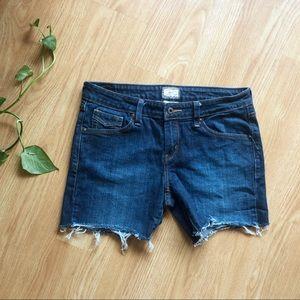 LEVI'S 545 low boot cut denim cutoff jean shorts